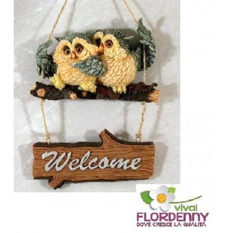 DEROMA GUFO H30 CERAMICA DECORAZIONE giardino animali decor gufi civette owl