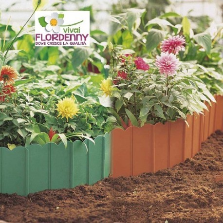 Verdemax bordura di plastica 3408 3409 3mt a confezione for Decorazioni giardino aiuole