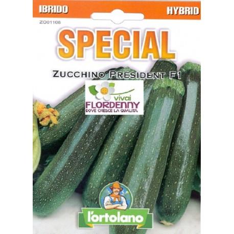 Special semi di zucchino president f1 orto sementi for Piantine orto prezzi