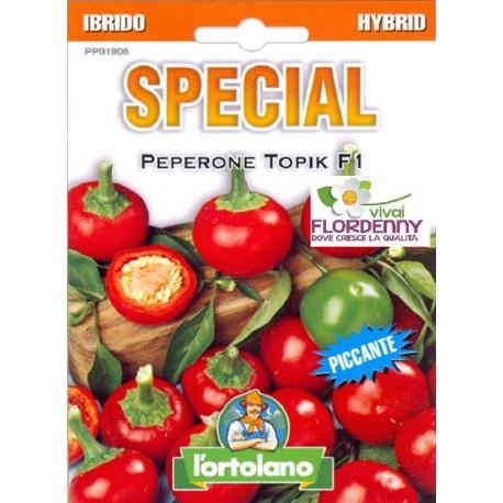 Special semi di peperoncino topik f1 orto sementi piantine for Piantine orto prezzi