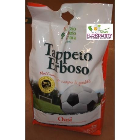 Prato semi oasi 5kg extra forte prati tappeto erboso for Tappeto erboso a rotoli prezzi