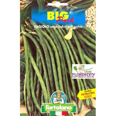 BIG PACK FAGIOLO NANO CICLOPE SEMI L'ORTOLANO orto sementi seme ortolano ortaggio