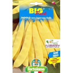 BIG PACK FAGIOLO SUPERNANO GIALLO SEMI L'ORTOLANO orto sementi seme ortolano ortaggio