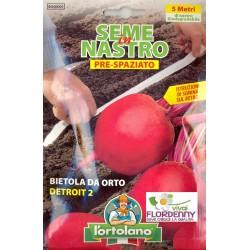 ORTO IN NASTRO BIETOLA DA FOGLIA SEMI PRESPAZIATI seme semina orto ortaggi aromatiche