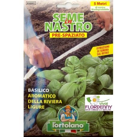 ORTO IN NASTRO BASILICO SEMI PRESPAZIATI seme semina orto ortaggi aromatiche