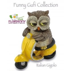 GUFO CON TRONCO COLLECTION LES ALPES gufo civette gufetto civetta fantasy bosco