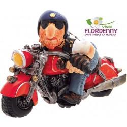 MOTOCICLISTA HARLEY DAVIDSON ROSSA motoraduno centauro moto