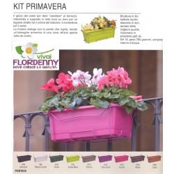 SOLELUNA KIT 25 ARCOBALENO VASCHETTA E SUPPORTO IN FERRO COLORATE fioriera vasi balcone