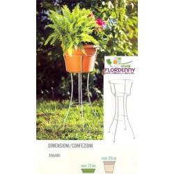 SOLELUNA PORTAVASO CM 22 balcone vasi fioriere fioriera balconiere giardino pianta