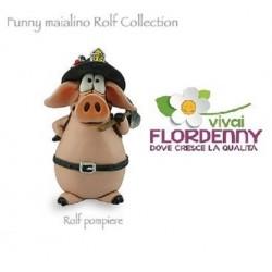 MAIALINO THE LOVER LES ALPES maiale portafortuna animali personaggi fattoria