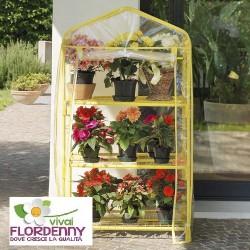 VERDEMAX SERRA AZALEA 3PIANI GIALLO ART2202 serre protezione tunnel caldo fiori