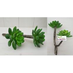 PIANTA GRASSA ARTIFICIALE ECHEVERIA REAL TOUCH piante artificiali finto vetrina composizioni