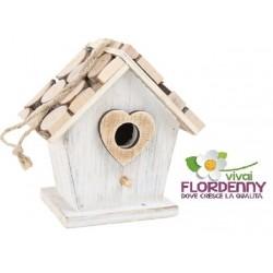 NIDO PER UCCELLINI ART 5398 birdfeeding legno gattino porte blocchi casetta birdwatching