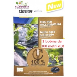 STOCKER TELO PACCIAMATURA BIODEGRADABILE ART 4861 m 10X0,8
