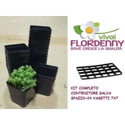 ARCA KIT 15 VASI 10X10 COMPLETO DI PANNELLO 15 FORI fioriere vasi balcone giardino piante orto orti