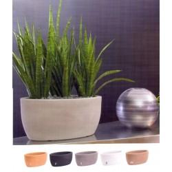 NICOLI CIOTOLA OVALE ATENA 50 vasi resina vaso arredamento piante giardino terrazzo