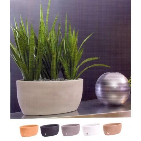 NICOLI CIOTOLA OVALE ATENA 50 vasi resina vaso arredamento piante g...