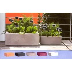 NICOLI CIOTOLA QUADRA MINOS 40 vasi resina vaso arredamento piante giardino terrazzo