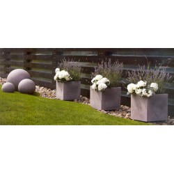 NICOLI MODUS QUADRO 40 vasi resina vaso arredamento piante giardino terrazzo