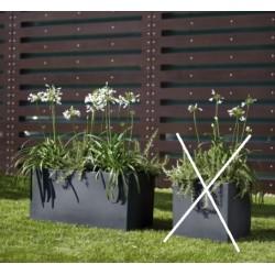NICOLI MODUS CASSETTA 80 vasi resina vaso arredamento piante giardino terrazzo