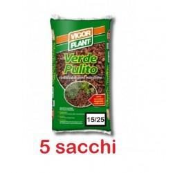 5 sacchi CORTECCIA VIGORPLANT LT20 pacciamatura diserbo piante decorativo arbusti piante