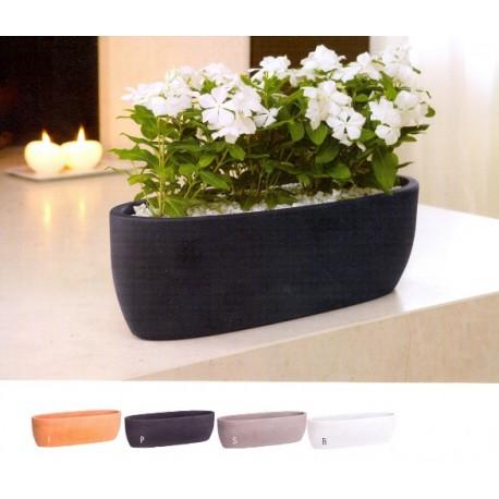 NICOLI VASCHETTA OVALE IRIS 60 vasi resina vaso arredamento piante ...