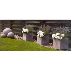 NICOLI VASO QUADRO EROS H80 vasi resina vaso arredamento piante giardino terrazzo