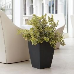 NICOLI VASO QUADRO LOGOS 30X30 vasi resina vaso arredamento giardino terrazzo