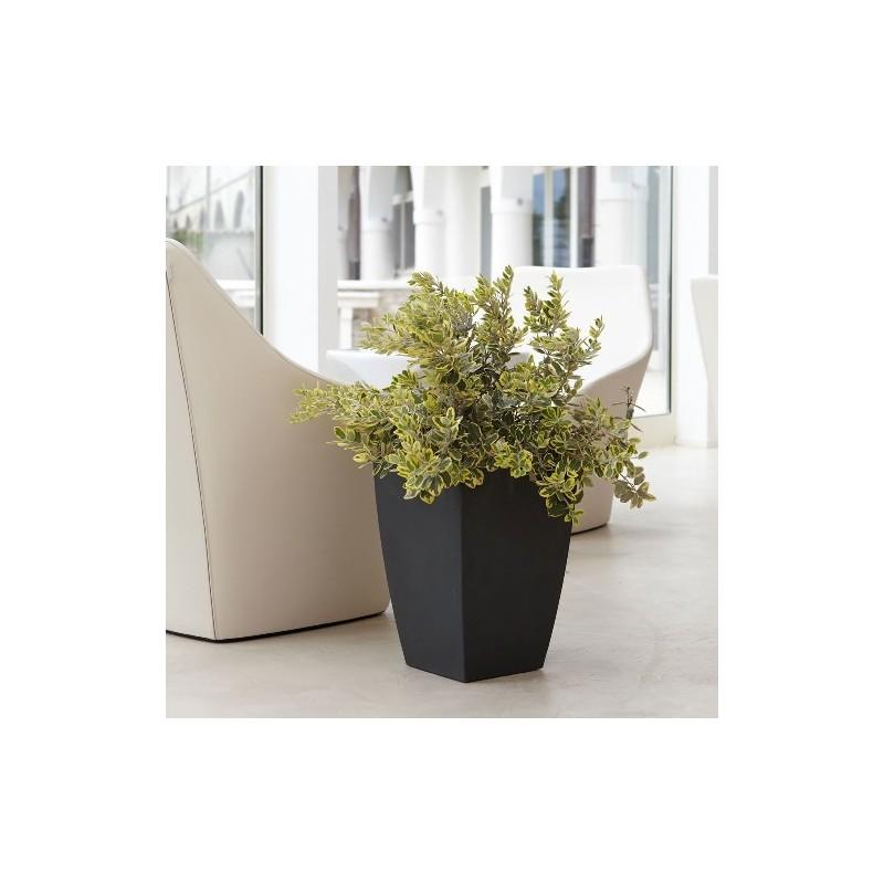 Nicoli vaso quadro logos 40x40 vasi resina vaso for Vasi da arredamento design