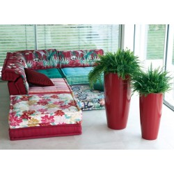 NICOLI VASO QUADRO LOGOS GLOSS 30X30 vasi resina vaso arredamento giardino terrazzo