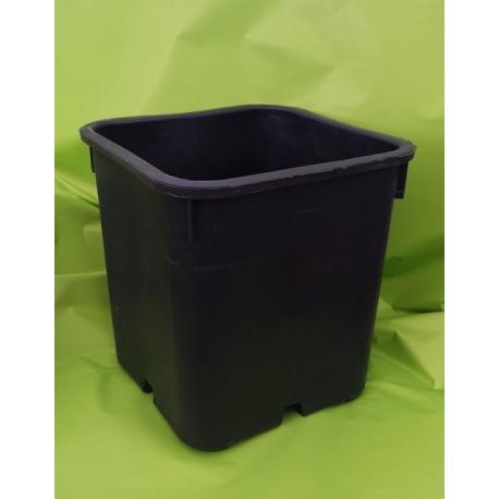 Vaso in plastica gommata nera 25x25x26 fioriere vasi for Vasi balcone