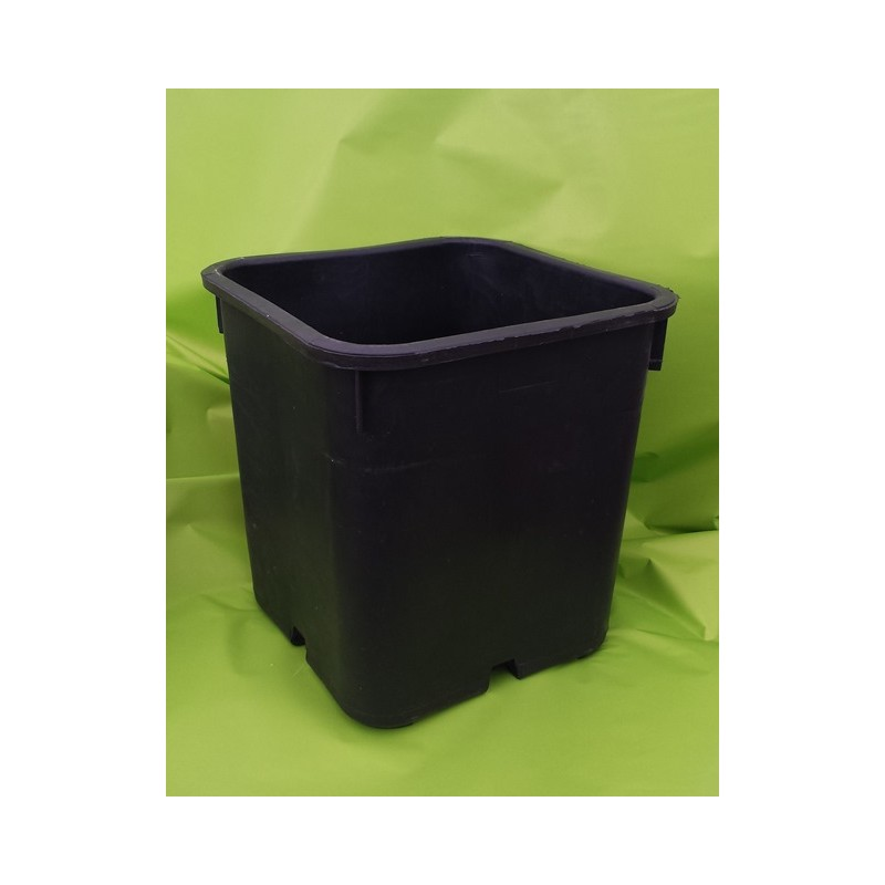 Vaso in plastica gommata nera 25x25x26 fioriere vasi for Vasi da giardino in plastica