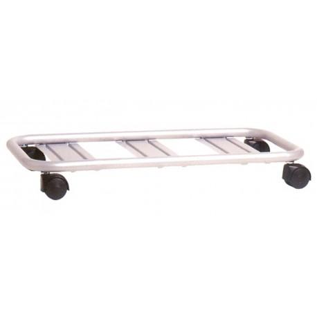 Nicoli carrello silver rettangolare 100 portafioriere vasi for Carrello portalegna da arredamento