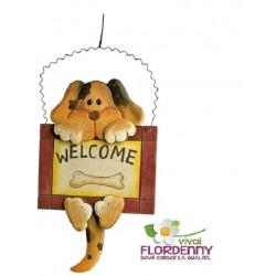 GATTO WELCOME 653188 amici casa calore legno arredo welcome gatti cat