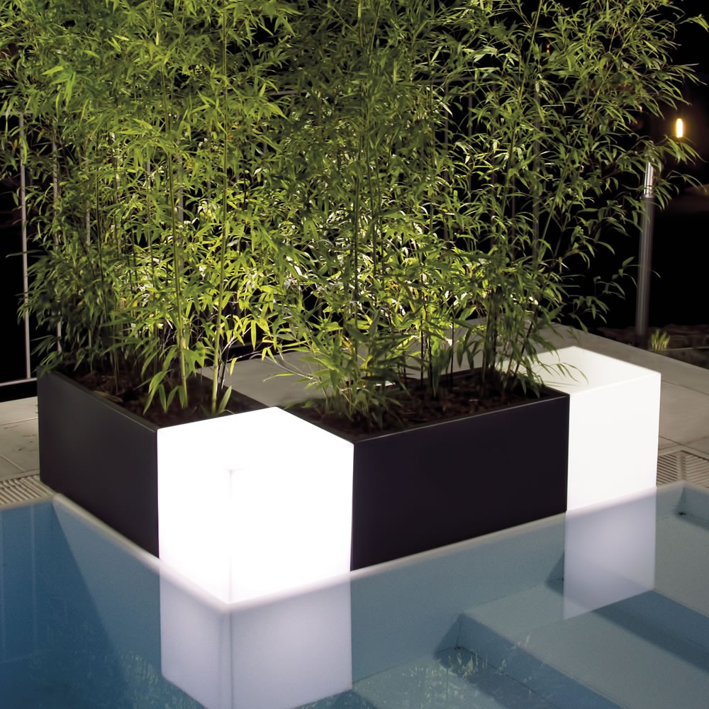 Vasi Per Piante Da Terrazzo nicoli modus cassetta 80 vasi resina vaso arredamento piante giardi