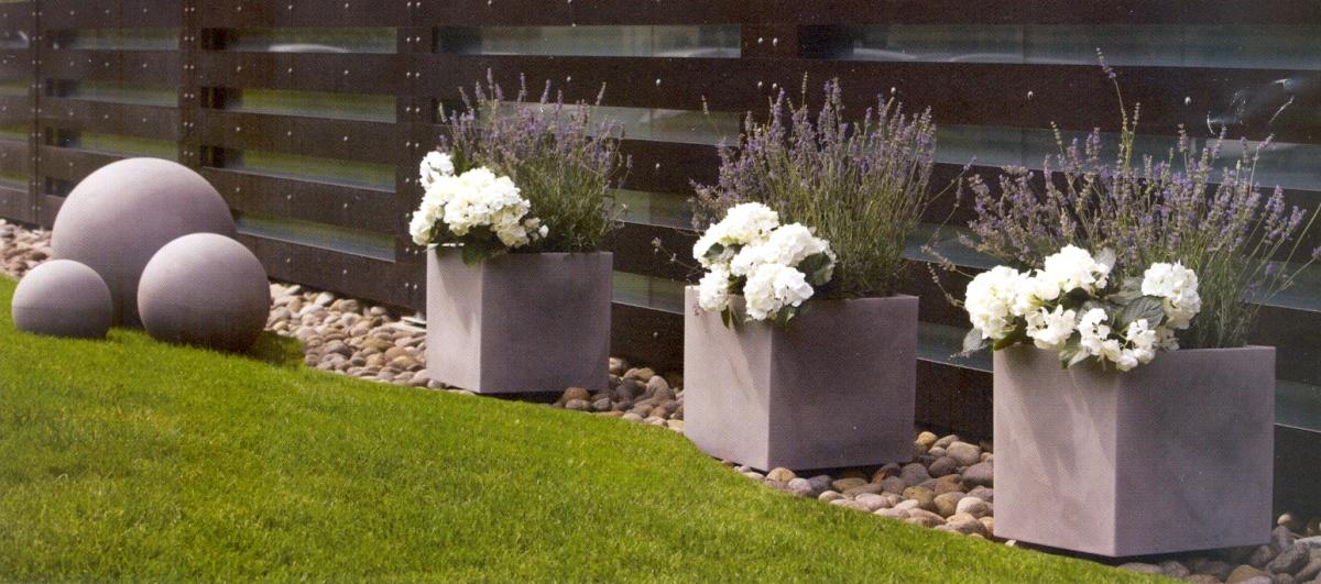 NICOLI MODUS QUADRO 40 vasi resina vaso arredamento piante giardino...