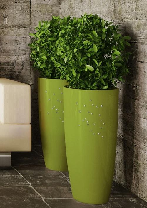 NICOLI VASO TALOS GLOSS H90 vasi resina vaso arredamento giardino t...