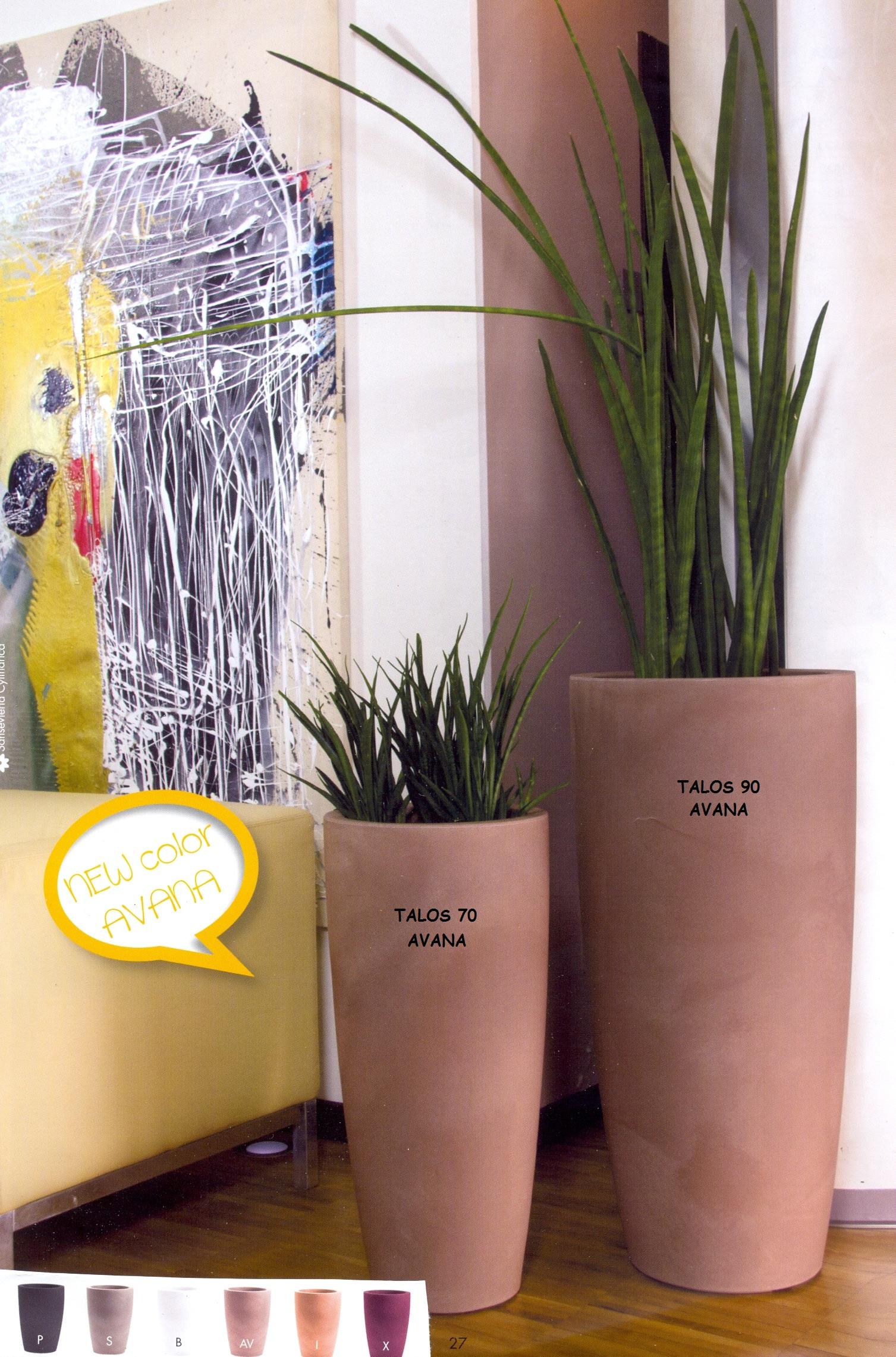 Nicoli vaso talos h90 vasi resina vaso arredamento for Vasi per terrazzi in resina
